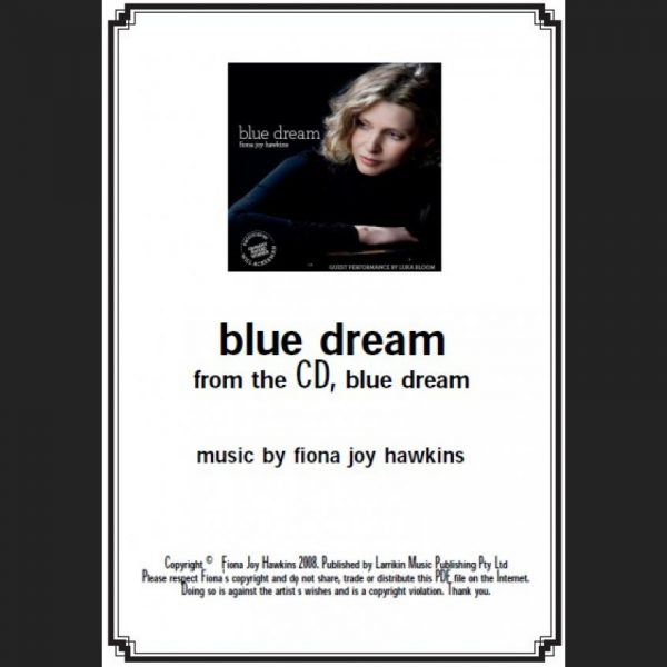 BLUE DREAM – blue dream title track – Sheet Music – Download