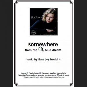 BLUE DREAM - somewhere - Sheet Music - Download