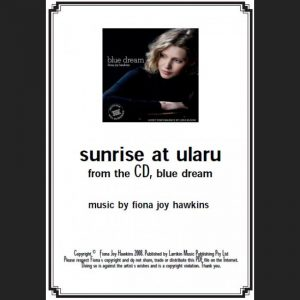 BLUE DREAM - sunrise at ularu - Sheet Music - Download