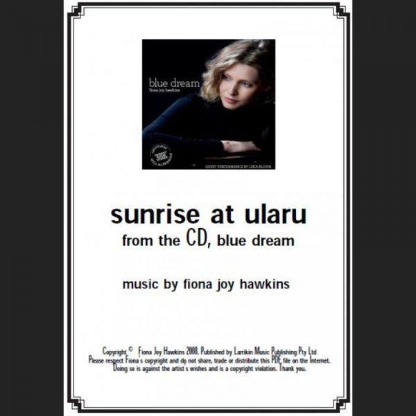 BLUE DREAM - sunrise at ularu - Sheet Music - Download