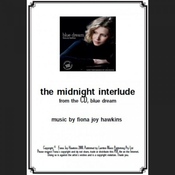 BLUE DREAM - the midnight interlude - Sheet Music - Download