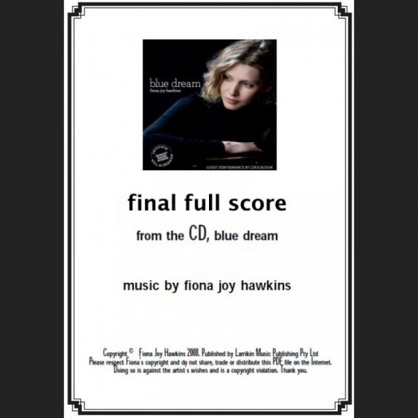 BLUE DREAM - final full score - Sheet Music - Download
